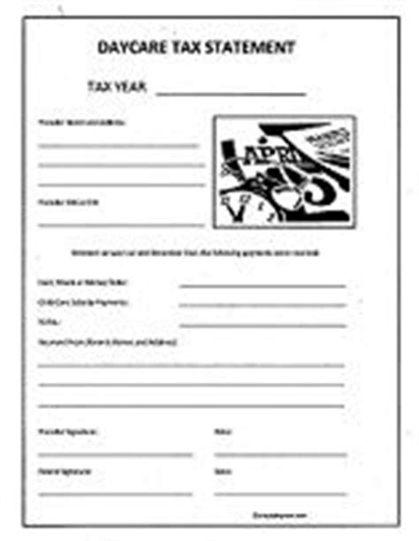 end of year daycare receipt template 1000 ideas about daycare forms on home