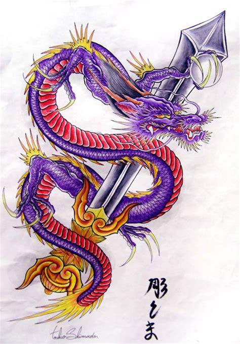 tattoo dragon purple purple dragon by shimadatattoofamily on deviantart