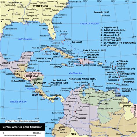 map usa and caribbean map of central america and the caribbean central america