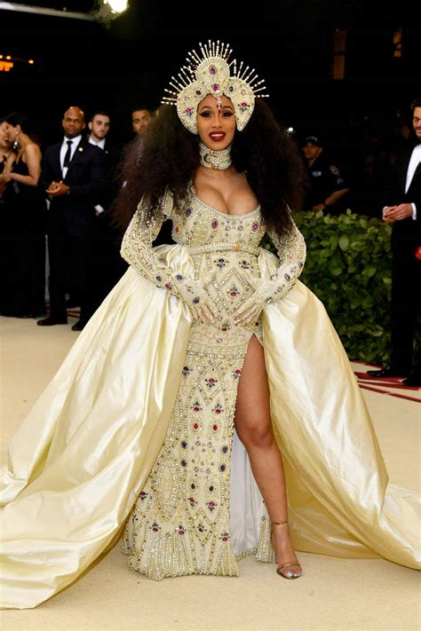 Dress Cardi cardi b brought the drama to the 2018 met gala