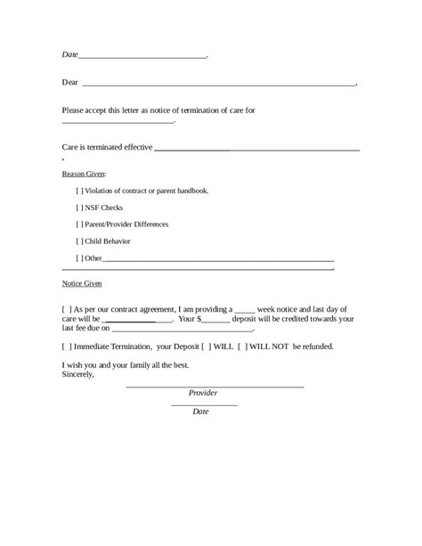Contract Of Employment Termination Letter 2018 termination letter templates fillable printable