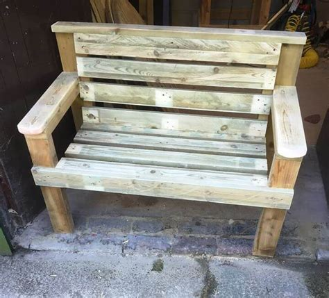 wooden pallet benches diy pallet and spool benches 99 pallets
