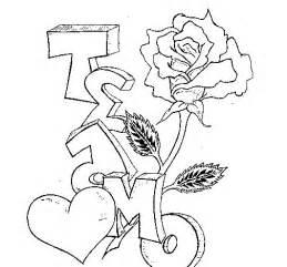 imagenes con nombre de leydi dibujo de te amo ii para colorear dibujos net