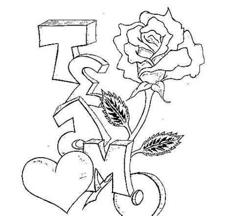 imagenes de amor para dibujar te amo dibujo de te amo ii para colorear dibujos net
