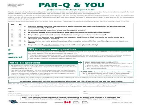 pre exercise screening form template pretty par q form template gallery resume ideas