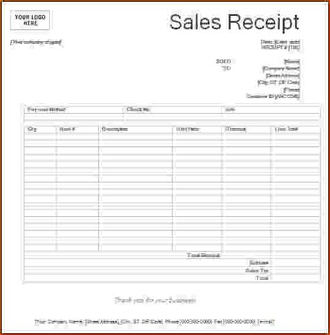 sales receipt book template 8 printable receipts bookletemplate org