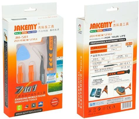Obeng Set Jakemy Jm 8152 Original obeng tool set merk jakemy jm s81 original indo tv parts