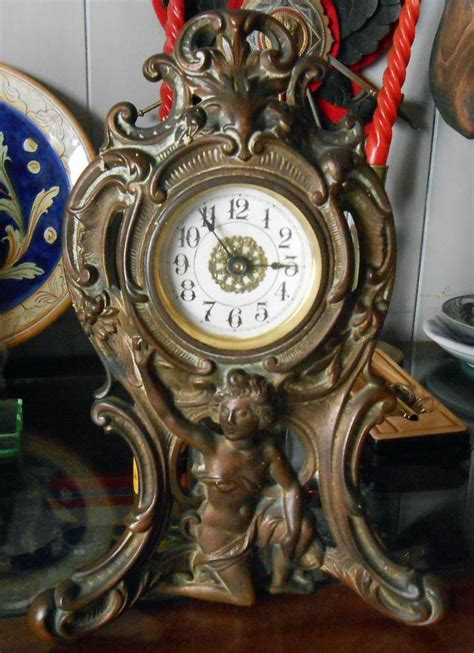 orologio da tavolo antico antico orologio da tavolo meccanico a bilancere semplice