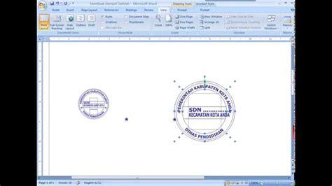 membuat logo dengan word membuat logo stempel sekolah dengan microsoft word youtube