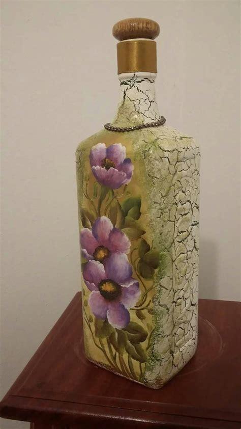 decoracion de botellas de vidrio vacias pin de maribel busca en cristal pinterest botellas