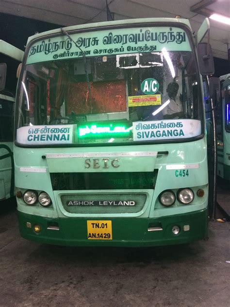 Sleeper Buses From Bangalore To Pondicherry by Chennai To Sivaganga Ac Setc Service Tnstc