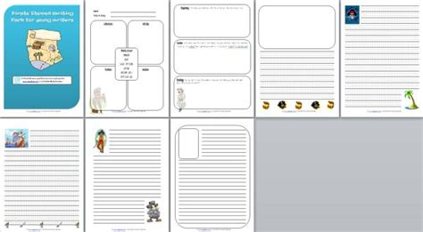 pirate themed writing paper pirate themed writing pack edgalaxy cool stuff for