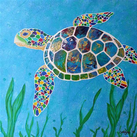 colorful turtles colorful sea turtles paintings www pixshark images