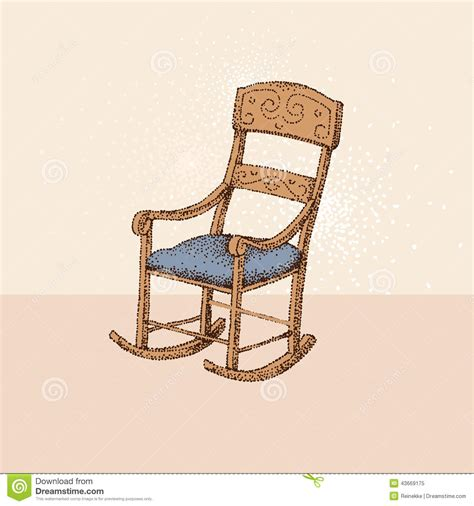 Chair Illustration by Vintage Chair Stock Vector Image 43669175