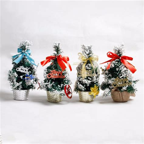 australian christmas decorations wholesale mini tabletop tree ornament multi patterns random home dinner table decor