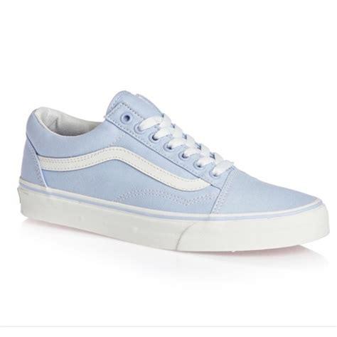 Sepatu Vans Slip On Blue Vans Shoes Light Blue Skool Sneakers Poshmark
