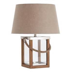 Tate coastal beach rope wood steel glass table lamp kathy kuo home