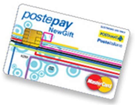 ricarica postepay ufficio postale postepay anonima new gift la carta regalo di poste italiane