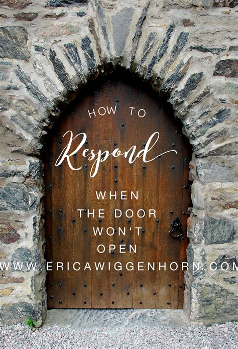 the unexplainable church how to respond when the door won