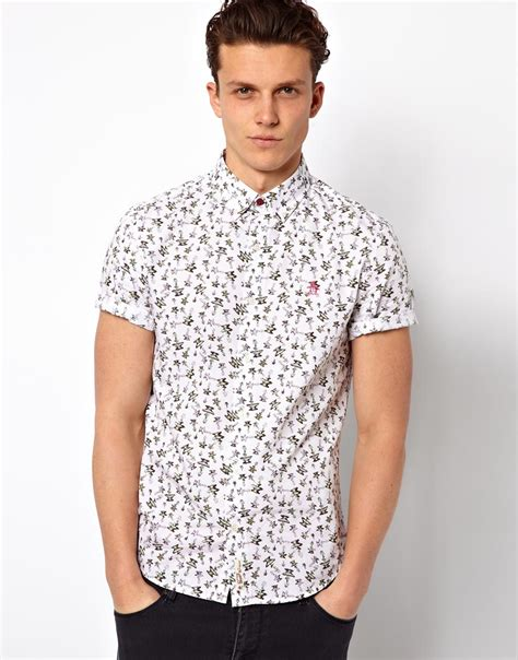 020 Blouse White Pinguin original penguin shirt with print in white for