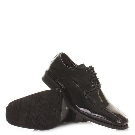 usher shoes mens smart lace up black patent shiny dress