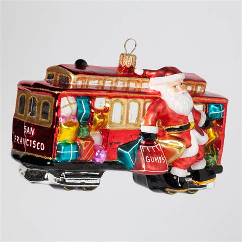 san francisco cable car santa christmas ornament gump s