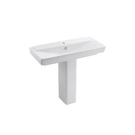 kohler reve pedestal sink kohler reve 39 in ceramic pedestal bathroom sink combo in