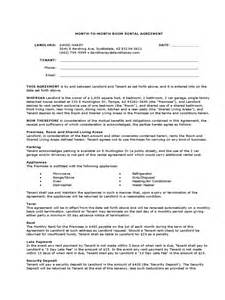Monthly Car Rental Agreement Template Month To Month Rental Agreement Form 86 Free Templates