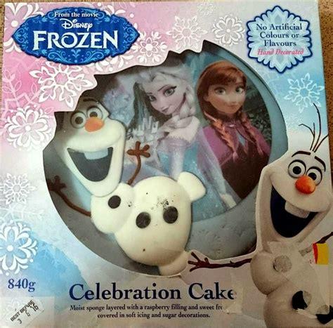 disney frozen celebration cake moist sponge layered  raspberry filling  sweet frosting