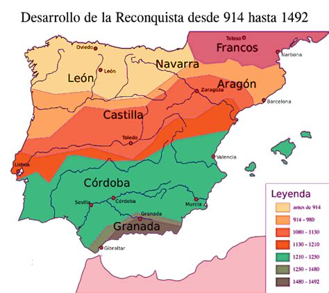 reconquista del reino de 8408176129 what was the reconquista map picture