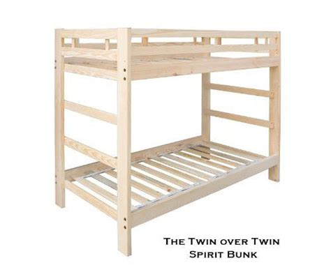 Unfinished Bunk Bed Spirit Bunk Bed Unfinished Solid Wood Holds 1000 Lbs By Room