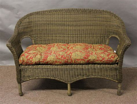 wicker settee furniture outdoor wicker loveseat cushions home furniture design