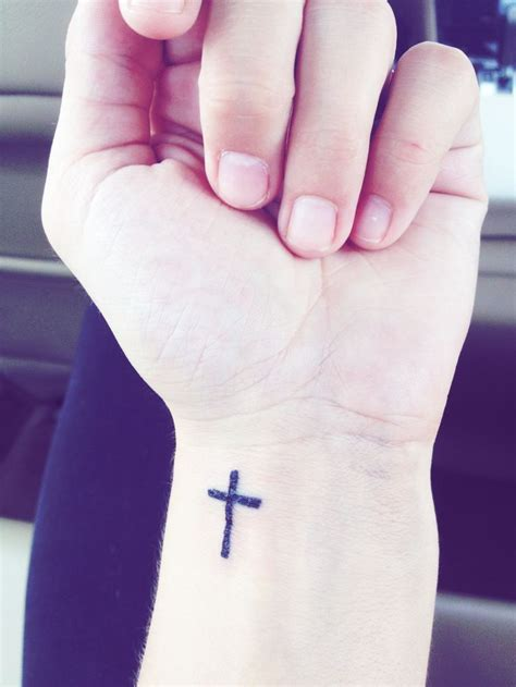 small cross tattoo on wrist 50 cross wrist tattoos
