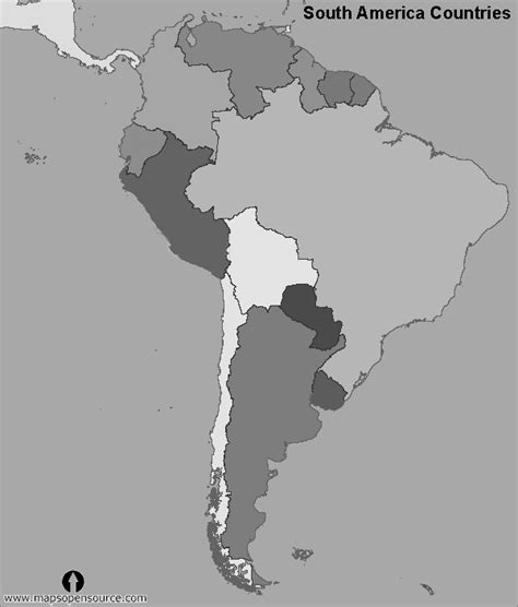 america map black and white free south america maps maps of south america maps of