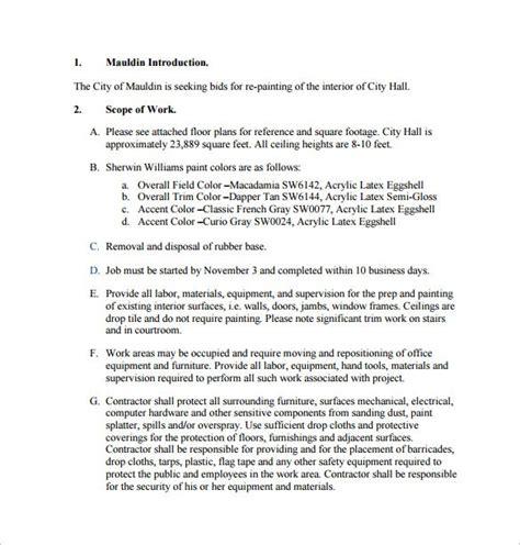 bid proposal template   sample  format