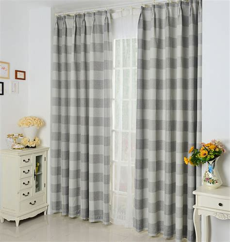 shabby chic blackout curtains shabby chic linen cotton fabric curtains blackout print gray