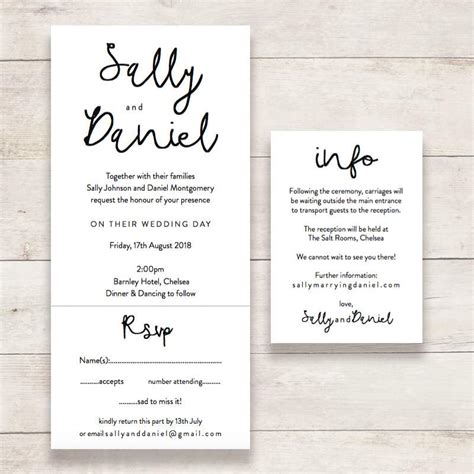 wedding invitations with detachable rsvp cards quot dreams quot wedding invitations connie joan