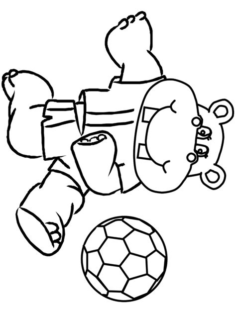 printable soccer  sports coloring pages