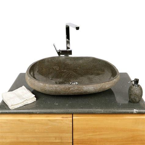 Naturstein Waschbecken Polieren by Naturstein Waschbecken Ca 70 Cm Innen Poliert Oval