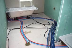 la plomberie mise en place de la tuyauterie encastr 233 e