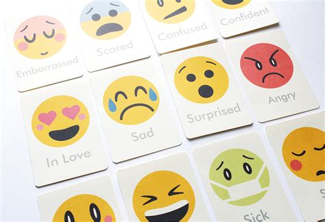 Printable Feelings Flashcards For Toddlers | emotions flash cards