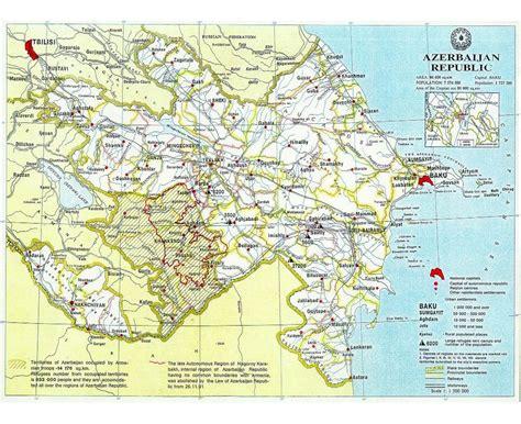 political map of azerbaijan maps of azerbaijan detailed map of azerbaijan in