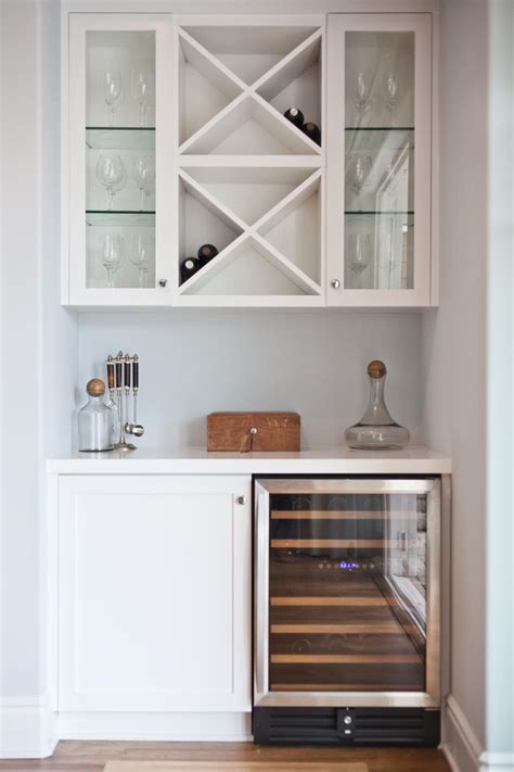 built in wine bar cabinets a clean and organized dry bar is a great option for a