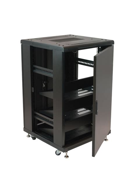 Equipment Racks by 19 Quot Equipment Rack Enclosure 18u Preloaded W Shelves
