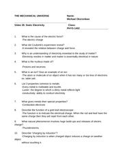 Static Electricity Worksheets For by Static Electricity Worksheet Free Worksheets Library