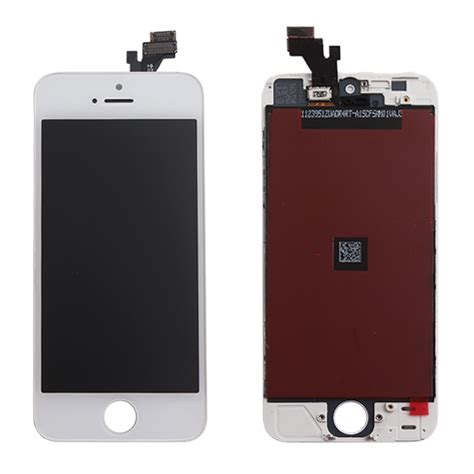 Lcd 1set Iphone 5g Original White iphone 5g complete lcd digitizer assembly best quality white renovo cellular parts