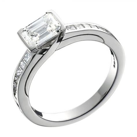 design home earn diamonds platinum emerald and princess cut diamond engagement ring