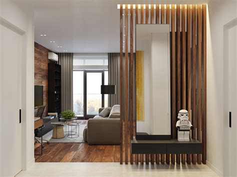 wood partition rustic beauty in an inner city apartment