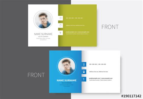 Business Card Template Adobe Stock by Colored Sidebar Business Card Layout Buy This Stock