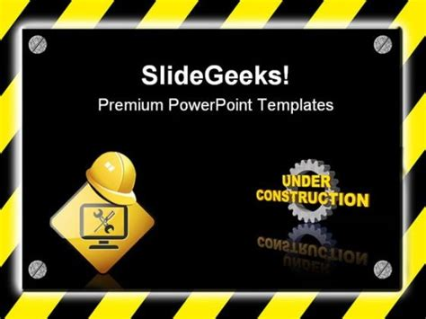 under construction signpost metaphor powerpoint templates